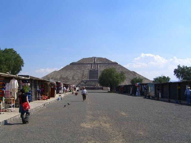 Tiendas de souvenirs en Teotihuacan