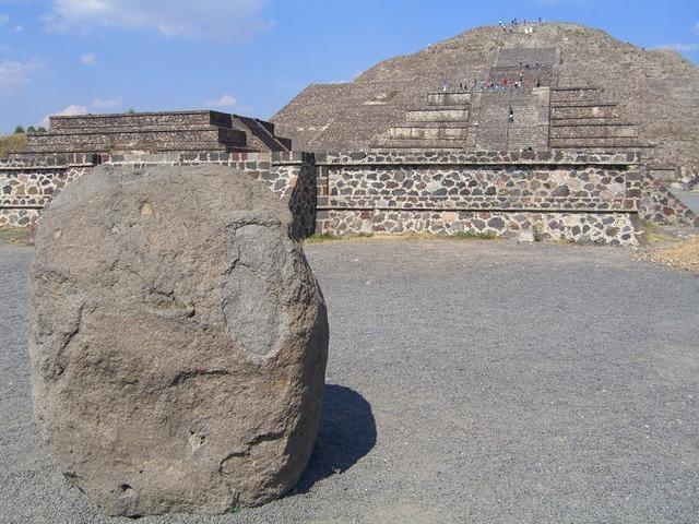 Vista de la pirámide de la luna