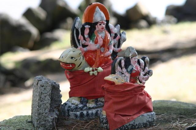 Detalles ofrenda hindú