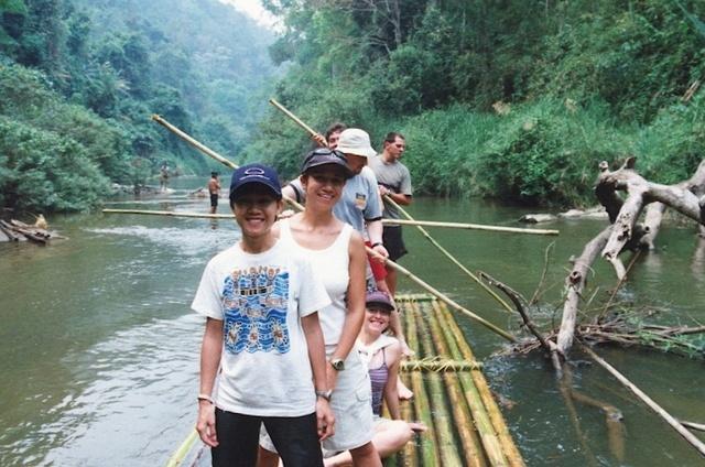 Rafting en balsa de bambú