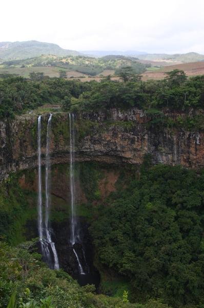Cascada vertiginosa de Chamarel