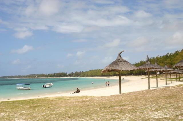 Playa desierta Mauricio