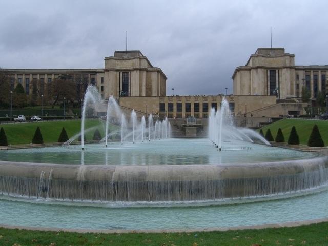 Fuentes de Trocadero y Palais Chaillot