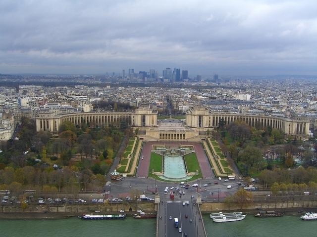Trocadero y Palais desde la torre