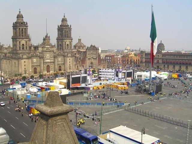 Zócalo desde Gran Hotel Ciudad de México