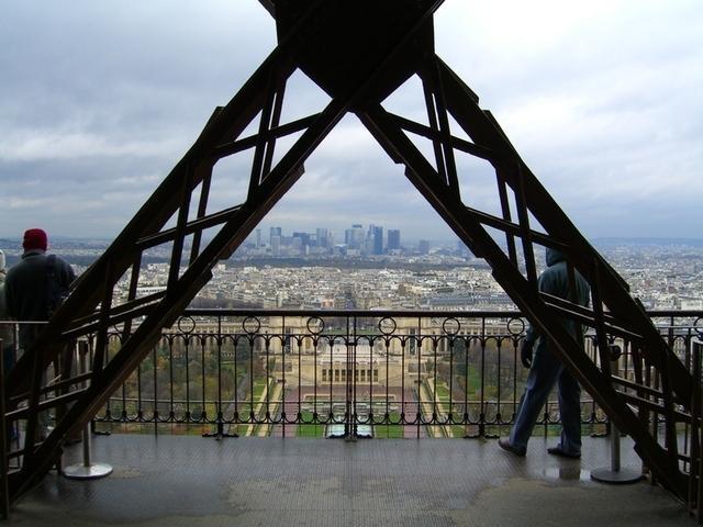Trocadero y centro de negocios de París