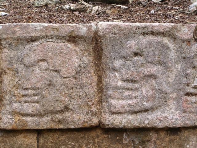 Grabados en la plataforma de los cráneos