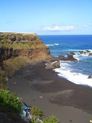 Punta oeste de la playa