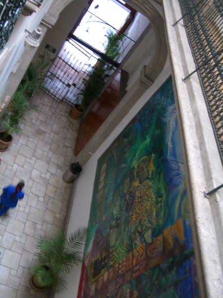 entrada y  mural