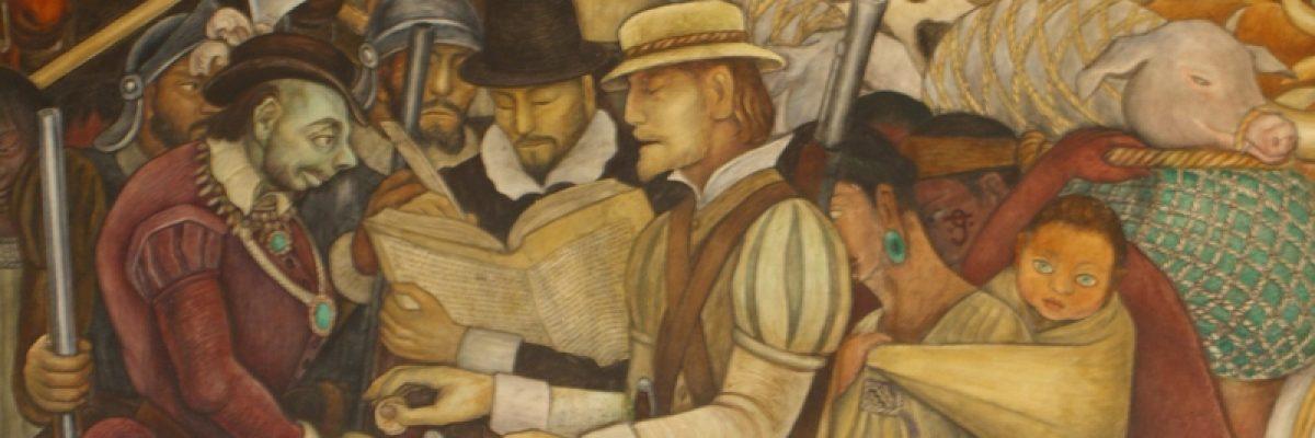 Murales de Diego Rivera en el Palacio Nacional de México